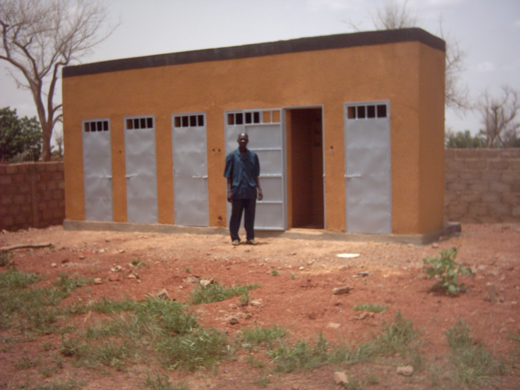 New latrines at the Collège.