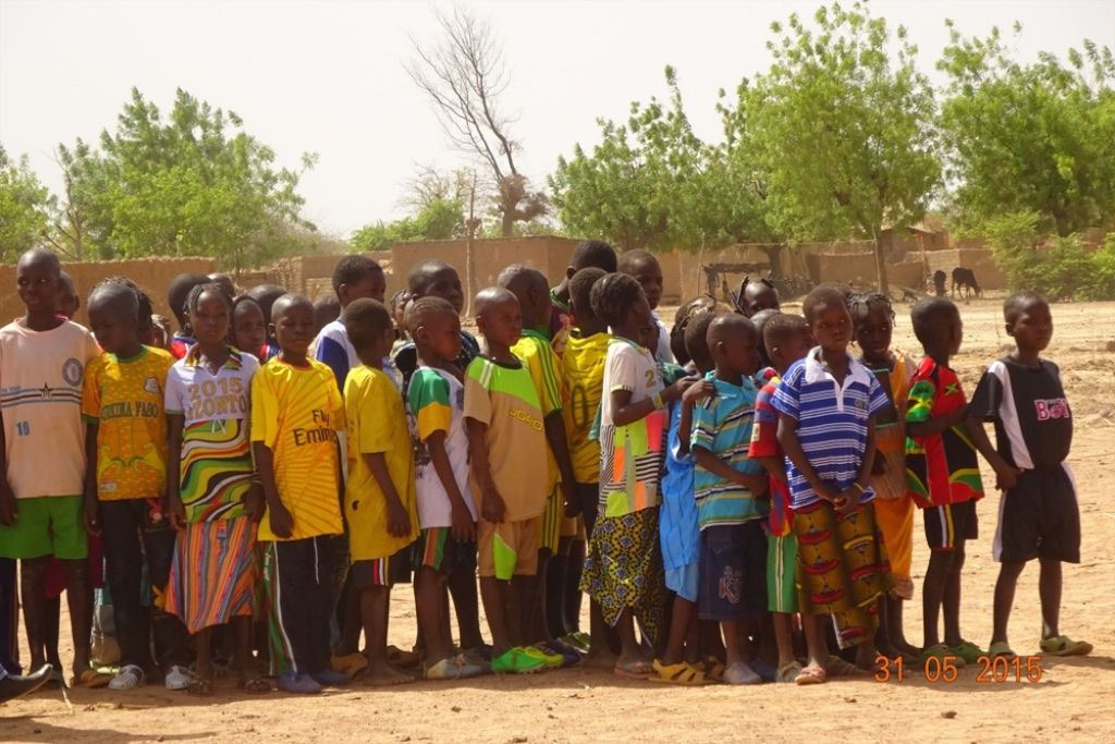 Primary students at Talle Bouli's primary school.
