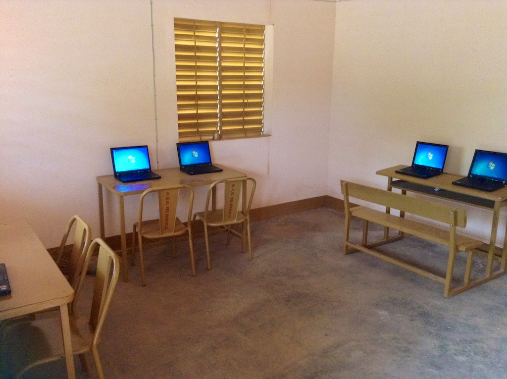 Computer lab at the school.