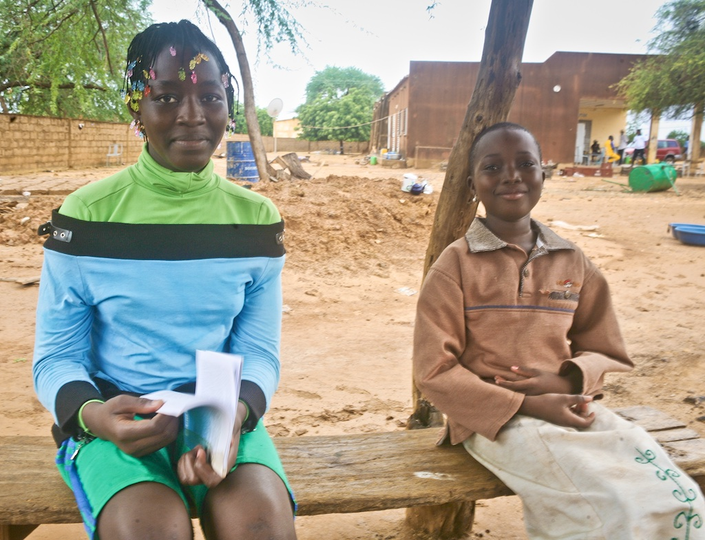 Sebba students like Teyira and Gertrude will benefit from the new library.