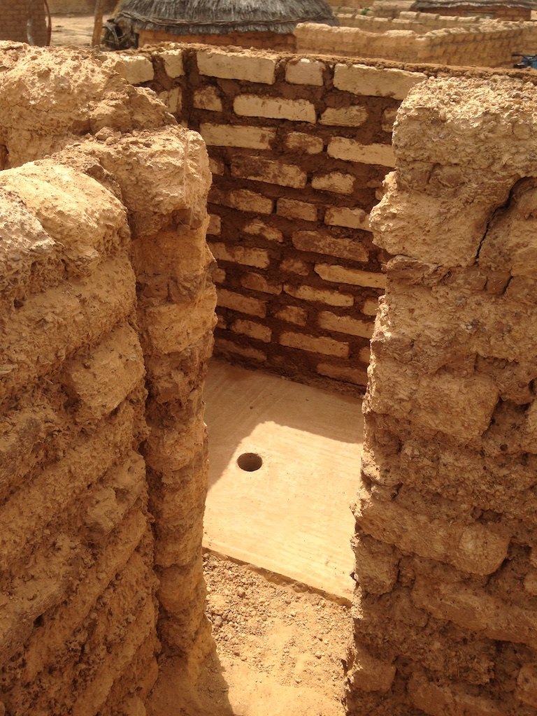 Interior of completed latrine