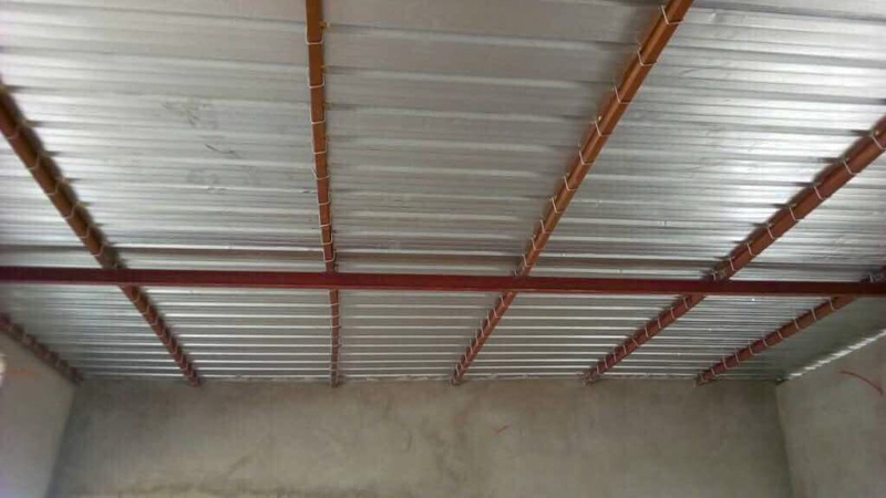 View of interior ceiling in a classroom