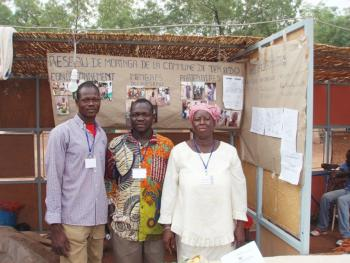 Educating farmers at a local exposition.