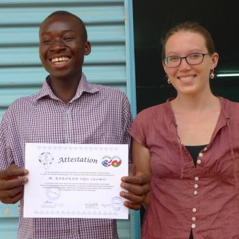 Casimir, one of the best IT students, according to teacher Emma.